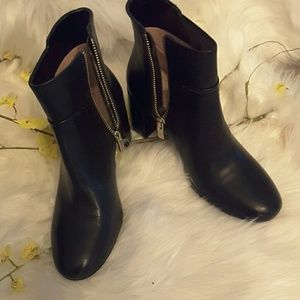 Taryn rose genuine leather boots with zippers